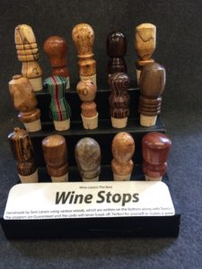 Wine Bottle Stoppers Display